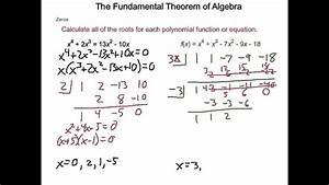 Algebra2 5 6 The Fundamental Theorem Of Algebra