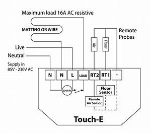 Heatmiser Touch-e - Electric Thermostats