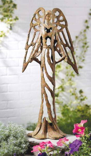 open work cast iron angel garden statue midwest cbk