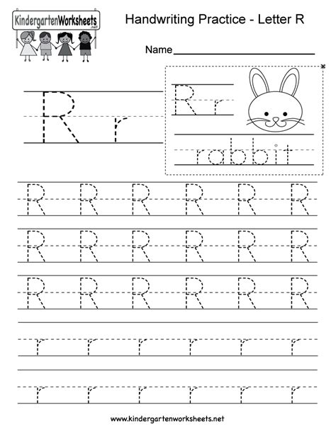 Letter R Writing Practice Worksheet  Free Kindergarten English Worksheet For Kids