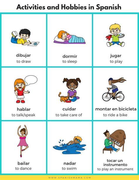 spanish  kids sports activities  hobbies