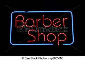 Stock Image of Barber Shop Neon Sign Barber Shop Neon