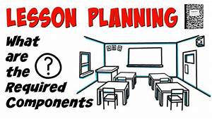 Lesson Planning  What Is Required