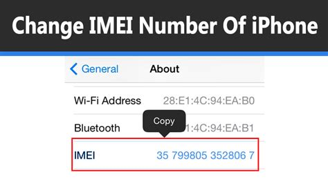 imei number on iphone how to change imei number of iphone