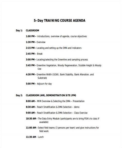 classroom agenda examples  sample