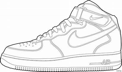 Shoe Outline Drawing Nike Coloring Pages Printable
