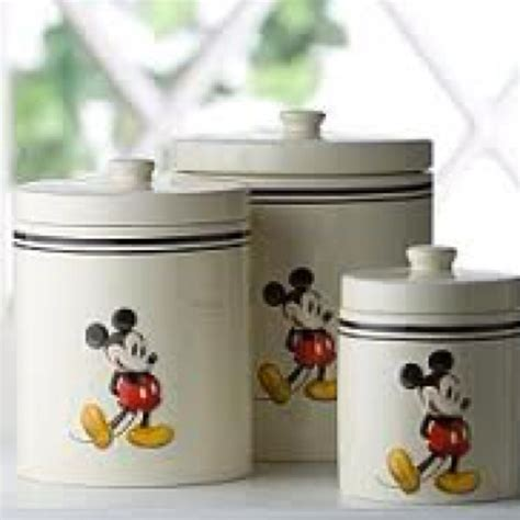 Mickey Mouse Canisters  Mickey Mouse  Pinterest  Mice