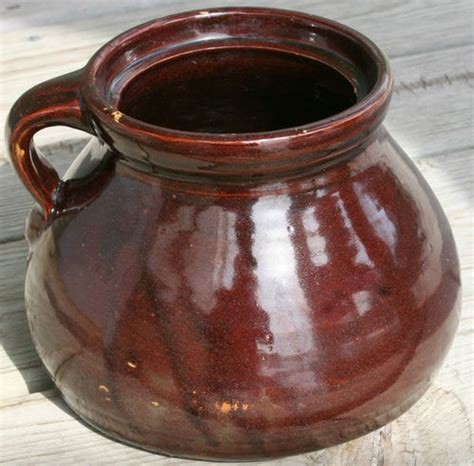 ceramic glazed bean pot brown medium size crock pot pin by brian poulson on great items that we ve sold