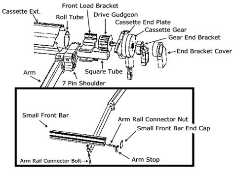 retractable patio awnings schematic drawings