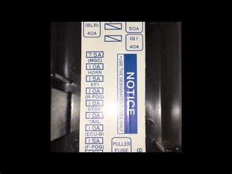fuse box avanza youtube