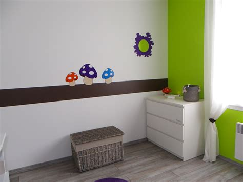 chambre verte chambre bébé thème nature photo 4 9 3504172