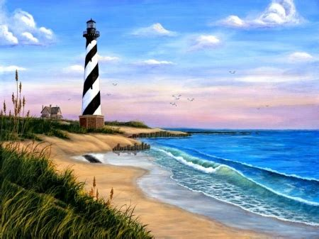 ocean lighthouse lighthouses architecture background