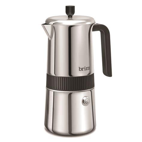 Smart valve cold brew coffee maker. 6 Cup Moka Maker - BRIM