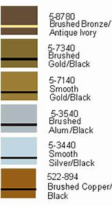 Color Charts For Engravable Plates And Engraving Plastic