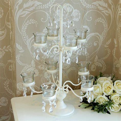 tea light candelabra 9 cup glass tea light holder melody maison 174