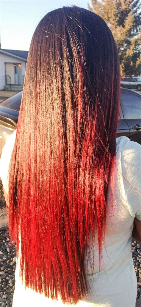 Best 25 Red Dip Dye Ideas On Pinterest Red Dip Dye Hair