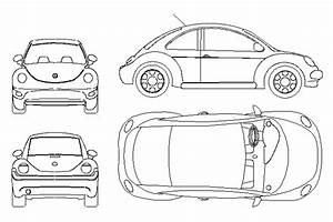 bloques cad autocad arquitectura download 2d 3d dwg With clic volkswagen bug