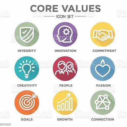 Values Core Company Icons Vector Icon Business