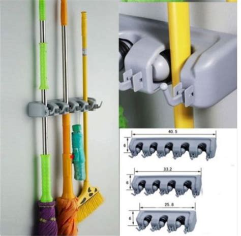 wall mounted kitchen organizer aliexpress buy mop holder organizer wall mounted 6950