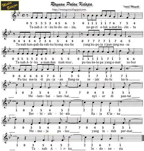 pianika lagu laskar pelangi not angka lagu pahlawan merdeka foto 2017