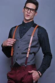 Men Vest with Suspenders