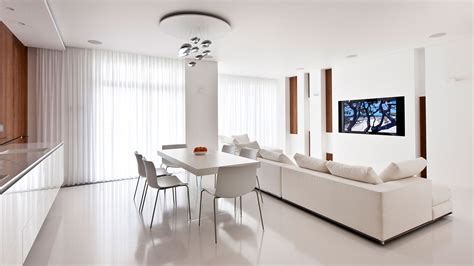White Interiors by Modern Moscow Apartment With All White Interior By