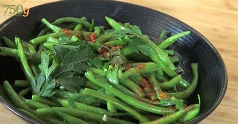 recette haricots verts au beurre