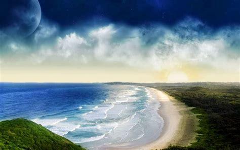sekedar ngepost background  powerpoint tema laut  pantai