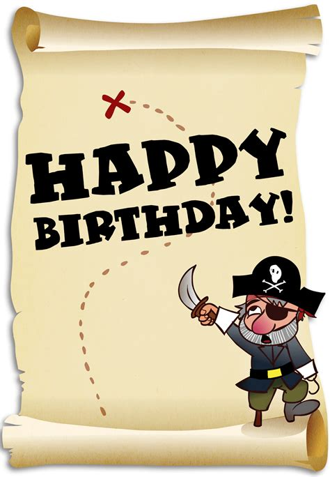 treasure map   pirate birthday card  island