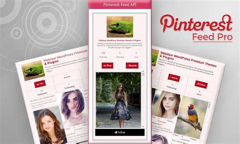 Display Pinterest Feed Pro Weblizar Wordpress Plugin