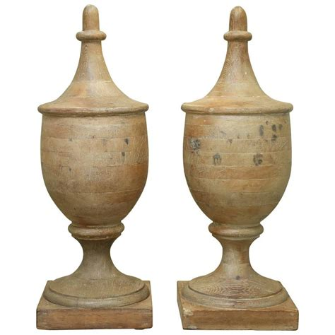Large L Finials pair of large vintage wooden finials for sale at 1stdibs