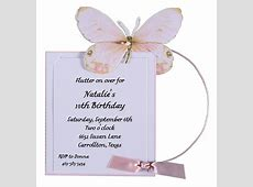Pink Butterfly Birthday Party Invitations Polka Dot Design