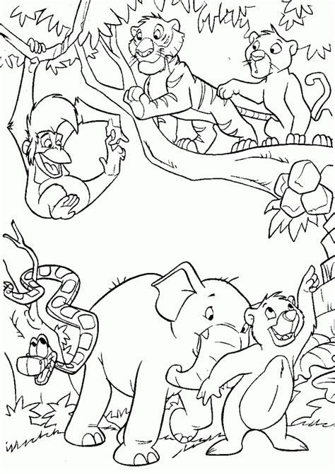 dibujos  colorear animales de la selva dibujar