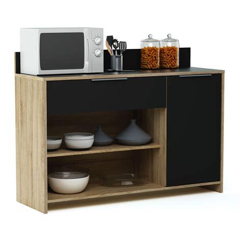 meuble desserte en bois  porte  tiroir  niches
