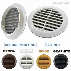 Circle Air Vent Grill Cover Ducting Ventilation Cover Fly