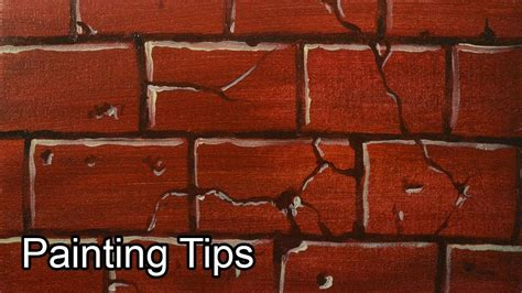 how to paint bricks on a wall acrylic painting lesson how to paint bricks by jm lisondra youtube