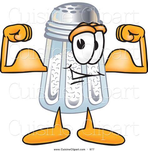 cuisine shaker cuisine clipart of a muscular salt shaker mascot