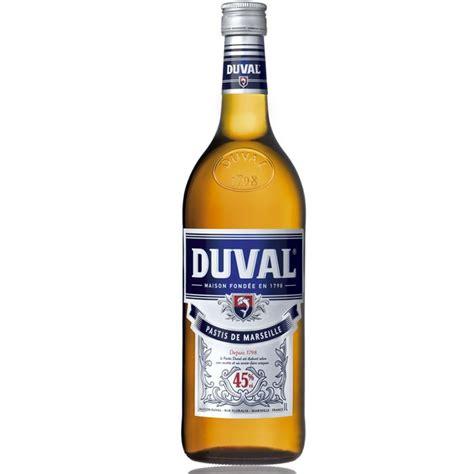 cuisine et vin de duval pastis 1l achat vente apéritif anisé duval