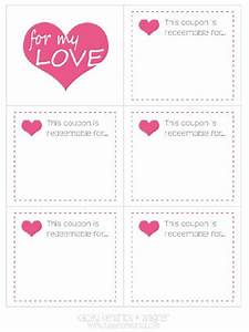 imprimibles vales cupones de amor para san valentin With love coupon templates printable free