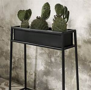 Nordal, Black, Iron, Planter, On, Stand, By, Bell, U0026, Blue