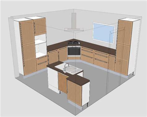 hotte aspirante d angle cuisine cuisine ikea tidaholm réalisation caisson angle pour