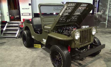 willys jeep lsx 1952 willys lsx sema 2014 youtube