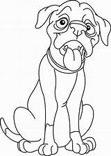 Dog Boxer Coloring Pages Dogs Puppy Vector Outlined Paw Illustration Boxers Royalty Printable Cartoon Depositphotos Getcolorings Books Vectorstock Dari Disimpan sketch template