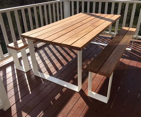 ultimate outdoor setting timber table loop legs bench