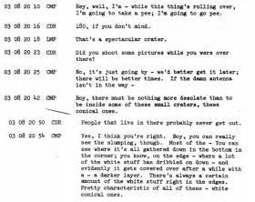 Apollo missions Transcripts, page 1