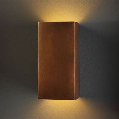 ambiance antique copper large rectangle outdoor wall