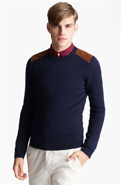 mens patch sweater mens sweater with shoulder patch free programs