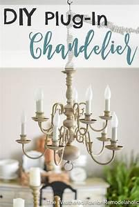Best ideas about plug in chandelier on