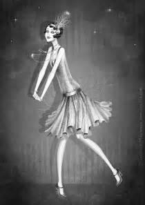 Illustrations Flapper Girl 1920s