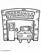 Coloring Parking Garage Clipart Clip Siluetas Estampados Silhouettes Colorear Truck Colouring Paginas Silhouette Maleboeger Andre Og Sketchite sketch template